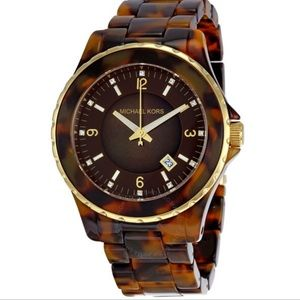 Michael Kors Tortoiseshell Acetate 42mm Watch